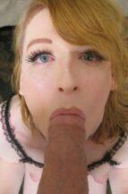 Erica Cherry Horny Trans Redhead Sucks A Fat D (16 February 2021)